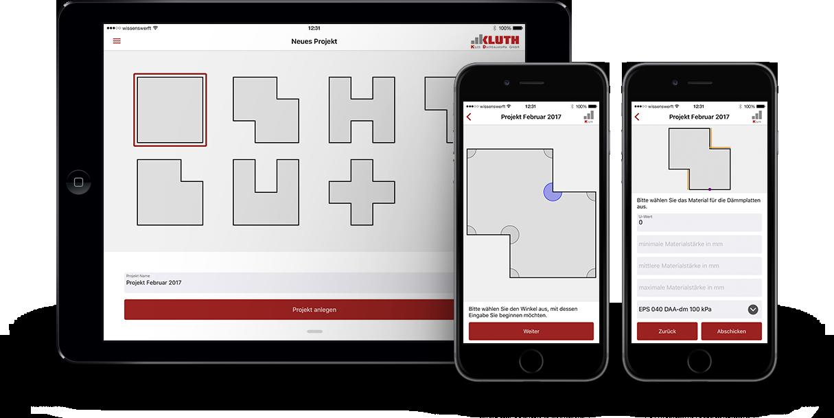 App Kluth EPS Dachbaustoffe Dämmung Flachdach